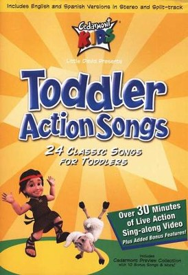 Toddler Action Songs, DVD   -     By: Cedarmont Kids