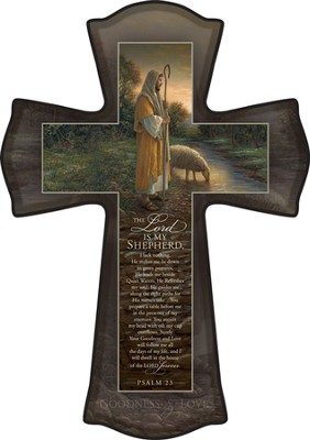 The Lord Is My Shepherd Cross  -     By: Jon McNaughton