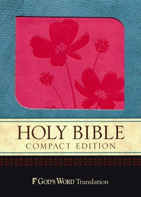God's Word Compact Bible, Duravella, rose/brown, Flower Design  -
