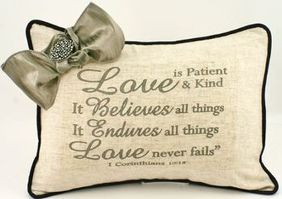 Love Is Linen Pillow   -
