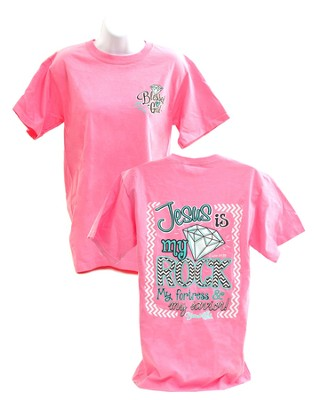 Jesus Is My Rock, Blessed Girl Tee Shirt, XX-Large