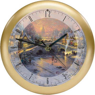 Spirit of Christmas Clock  -     By: Thomas Kinkade