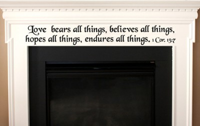 Vinyl Wall Expression, Love Bears All Things  -