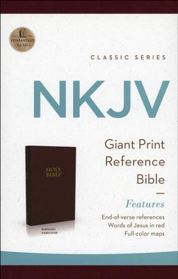NKJV Personal Size Giant Print Reference Bible, Hardcover, Burgundy  -