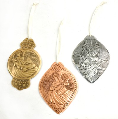 Angels In Song, Mixed Metal Ornaments, Set of 3   -