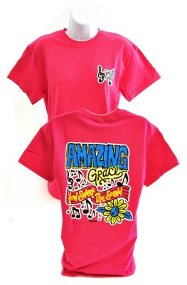 Girly Grace, Amazing Grace Shirt, Pink  Extra Large  -