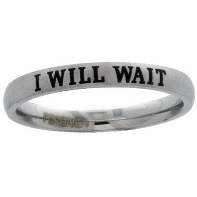 I Will Wait Ring, Size 10  -