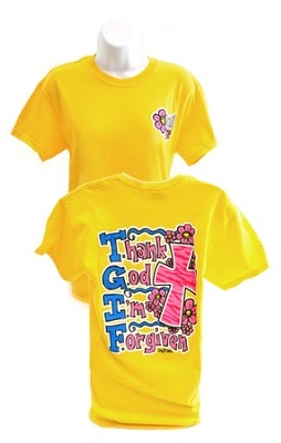 Girly Grace TGIF Shirt, Yellow,   Large  -