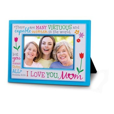 I Love You Mom Photo Frame  -