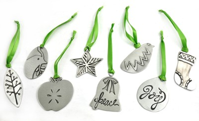 Simple Gifts Pewter Ornaments, Set of 8  -