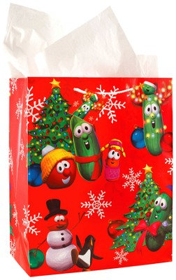 VeggieTales Christmas Gift Bag, Large  -