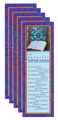 Favorite Scripture Passages Bookmark (Package of 25)  -