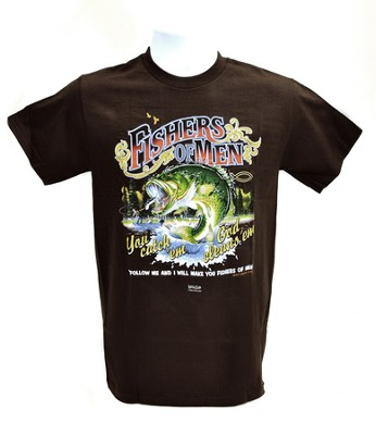 Fishers Of Men 3 Shirt, Brown, Large  -