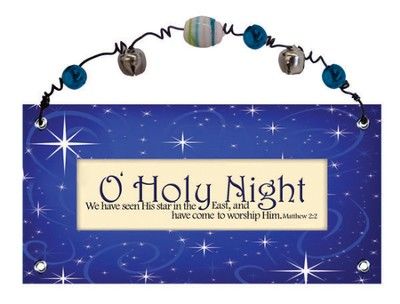 O Holy Night Plaque  -