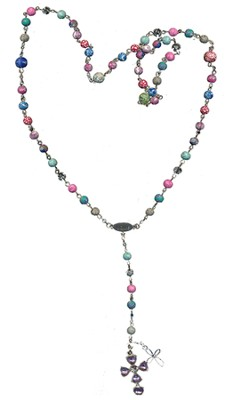 Rosary Thin Chain (Viva Beads), Multi-Color   -