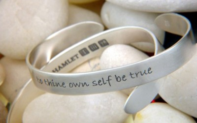 To Thine Own Self Be True Cuff Bracelet  -