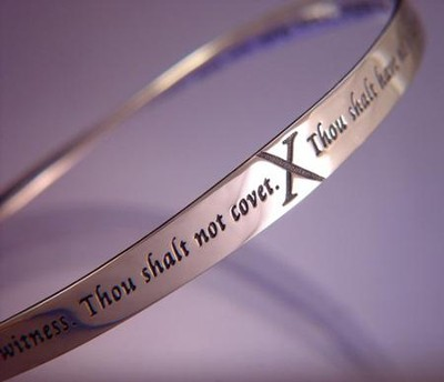 Ten Commandments Mobius Bracelet  -
