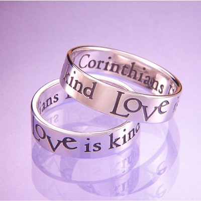 Love Is Patient, Love is Kind Ring, Size 7  -