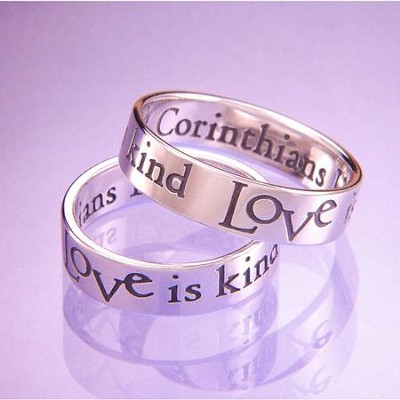 Love Is Patient, Love is Kind Ring, Size 8  -
