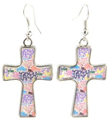 Faith Cross Earrings, Dana Designs  -