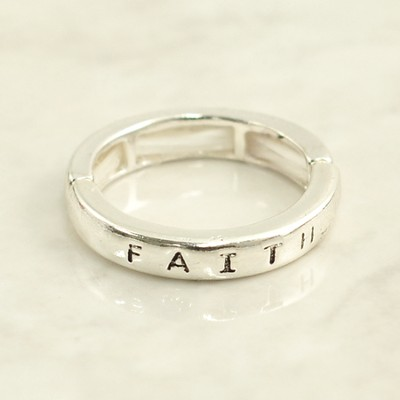 Faith, Braille Stretch Ring  -
