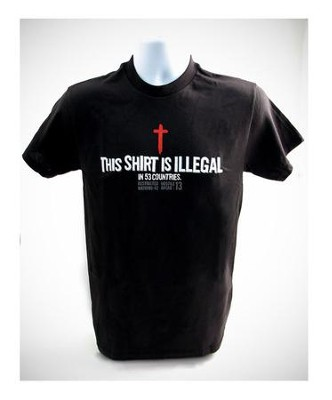This Shirt is Illegal, Shirt, Black, 4X Large   -