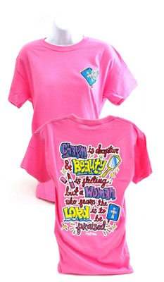Girly Grace Charmed Shirt, Pink,  XX-Large  -