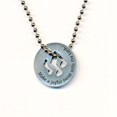 Make A Joyful Noise Necklace Psalms 66:1-2  -