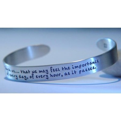 Teach Us, Sterling Silver Cuff Bracelet  -     By: Jane Austen