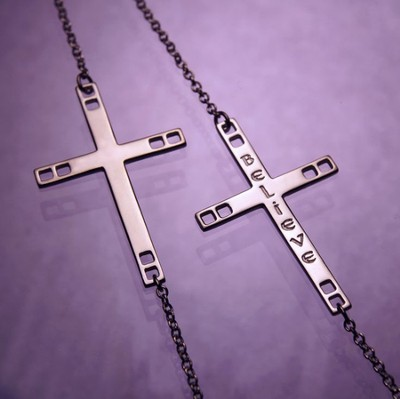 Believe, Sterling Silver Cross Pendant  -     By: Charles Rennie Mackintosh