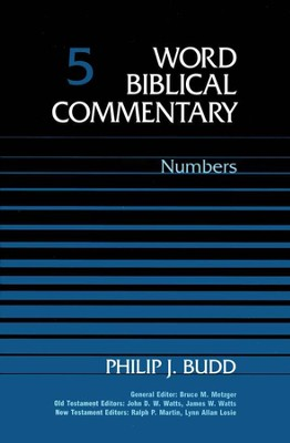 Numbers: Word Biblical Commentary [WBC]   -     By: Philip J. Budd
