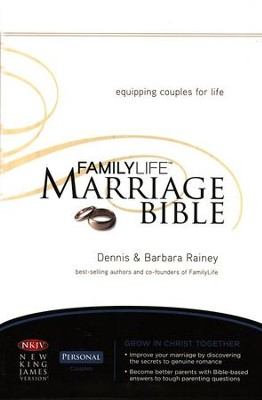 NKJV Familylife Marriage Bible: Equipping Couples for Life - Burgundy LeatherSoft Edition  -