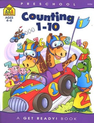 Number Skills-Counting 1 to 10, Preschool Get Ready Workbooks  -