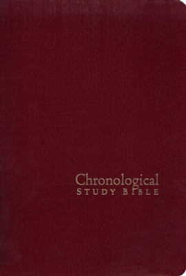 The NKJV Chronological Study Bible, Black Cherry  -