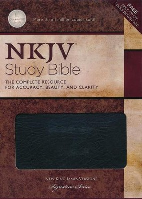 NKJV Study Bible, Second Edition - Bonded Leather Black  Thumb-Indexed  -