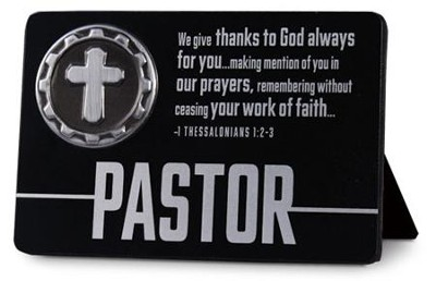 Pastor Plaque with Cross Medallion  -