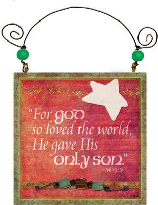 God So Loved the World Plaque  -