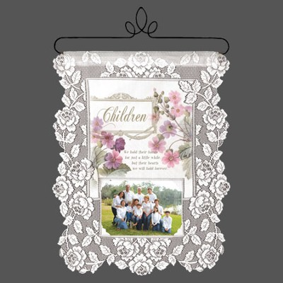 Children, We Hold Their Hands, Lace Wall Hanging  -