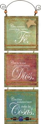 Con Dios Podemos Hacer Todas Las Cosas, Placa  (With God We Can Do All Things, Plaque)  -