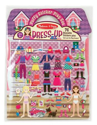 Dress-Up, Puffy Sticker Playset  -