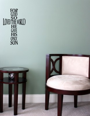 Vinyl Wall Expression, God So Loved the World  -