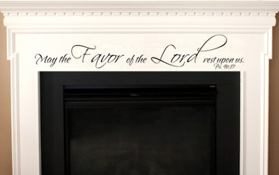 Vinyl Wall Expression, Favor of the Lord  -