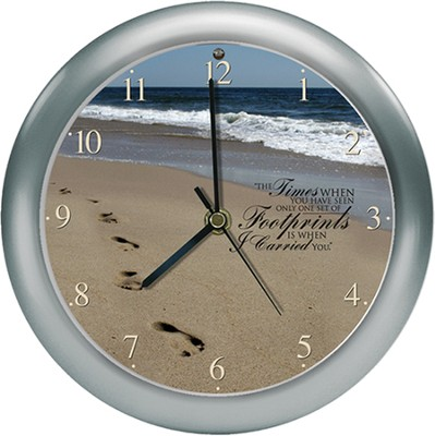 Footprints Clock, Amazing Grace  -