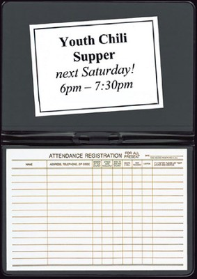 Attendance Registration Pad Holder, Black     -