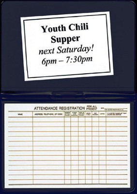 Attendance Registration Pad Holder, Navy Blue     -