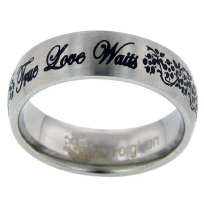 True Love Waits Ring, Flowers, Size 8  -