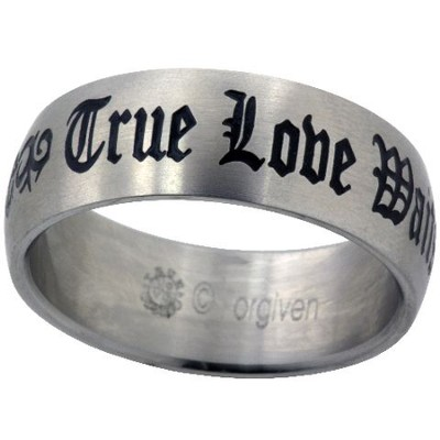 True Love Waits Ring, Tribal, Size 9  -