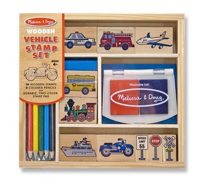 Vehicles, Rubber Stamp Set  -