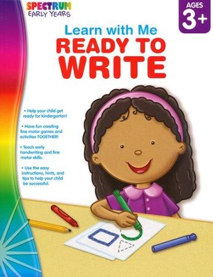 Spectrum Early Years Learn with Me Ready to Write  -