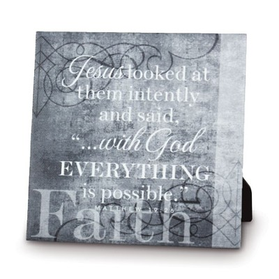 Faith, With God, Everything Is Possible Canvas Print   -